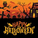 Halloween vector greeting card. Royalty Free Stock Photo