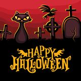 Halloween vector greeting card. Holiday series. Stock Image