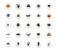 Halloween vector Icons set. Illustration Royalty Free Stock Image