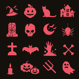 Halloween vector icons set Stock Photography