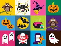 Halloween vector icons set Royalty Free Stock Image