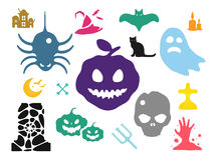 Halloween vector icons set Royalty Free Stock Photos