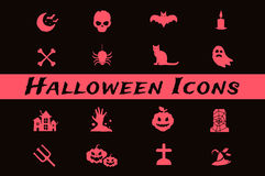 Halloween vector icons set Stock Photo