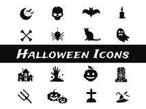 Halloween vector icons set Stock Images
