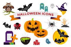 Halloween vector icons set Royalty Free Stock Photo