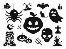 Halloween vector icons set Royalty Free Stock Photo