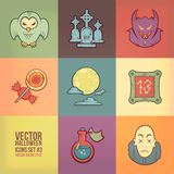 Halloween Vector Icons Set Stock Photos