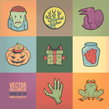 Halloween Vector Icons Set Stock Photography