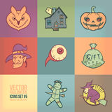 Halloween Vector Icons Set Royalty Free Stock Photos