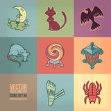 Halloween Vector Icons Set Royalty Free Stock Images