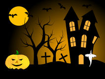 A halloween vector illustration Stock Images