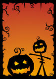 Halloween vector illustration background Royalty Free Stock Image