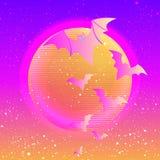 Halloween vector illustration: creepy cute vector bat flying aga Royalty Free Stock Photography