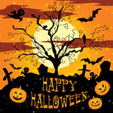 Halloween vector illustration Graveyard Stock Image