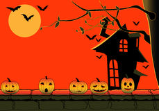 Halloween vector illustration with pumpkin Stock Photography