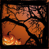 Halloween vector illustration scene Royalty Free Stock Photos