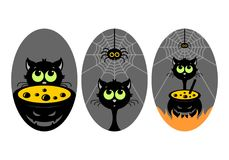 Halloween. Vector illustration. Halloween, stickers or badges, icons or logos in modern line style. Vector illustration stock illustration