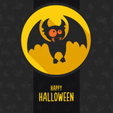 Halloween vector illustration in style flat about vampire Royalty Free Stock Image