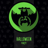 Halloween vector illustration in style flat about vampire Royalty Free Stock Images