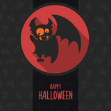 Halloween vector illustration in style flat about vampire Royalty Free Stock Photo