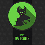 Halloween vector illustration in style flat about vampire Royalty Free Stock Photography