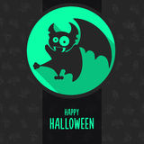 Halloween vector illustration in style flat about vampire Stock Image