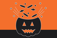Halloween Vector Illustration, Trick or Treat Royalty Free Stock Photography