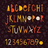 Halloween vector letters Royalty Free Stock Images