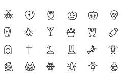 Halloween Vector Line Icons 2 Stock Image