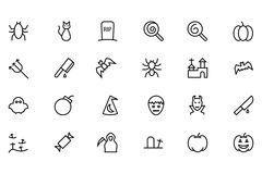 Halloween Vector Line Icons 3 Royalty Free Stock Photo