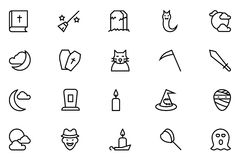 Halloween Vector Line Icons 5 Royalty Free Stock Photography