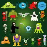 Halloween vector monsters Royalty Free Stock Photos
