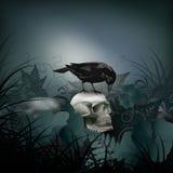 Halloween vector night scene Royalty Free Stock Images
