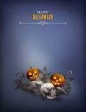 Halloween vector night scene Stock Images