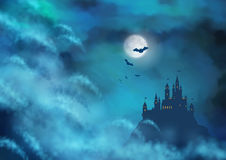 Halloween Vector Nightly Background Royalty Free Stock Image