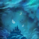 Halloween Vector Nightly Background Stock Images