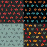 Halloween vector pattern in style flat about vampire Royalty Free Stock Photos