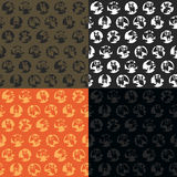 Halloween vector pattern in style flat about vampire Stock Images
