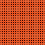 Halloween vector polka dot background. Orange and black dark endless seamless texture. Thanksgivings day pattern Stock Photography