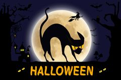 Halloween vector poster, banner or flyer stock photography