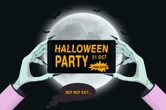 Halloween vector poster - stock images