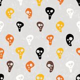 Halloween vector print with skulls funny skulls. Stock Images
