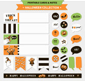 Halloween vector printable set. Royalty Free Stock Photos
