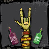 Halloween vector rock n roll zombie background Stock Photography