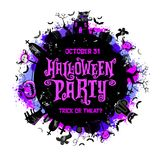 Halloween Party Poster. Vector illustration. Stock Image