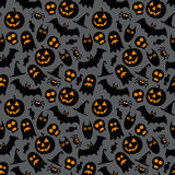 Halloween vector seamless pattern Royalty Free Stock Images