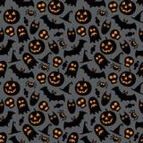 Halloween vector seamless pattern stock illustration