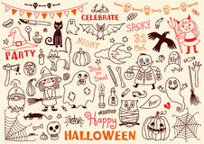 Halloween Vector Set of  Design Elements Royalty Free Stock Images