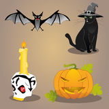 Halloween vector set Stock Photography