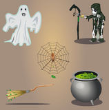 Halloween vector set Stock Photos